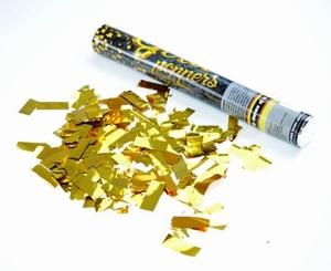 Handmatige Confetti Shooter 40 cm Metallic Goud